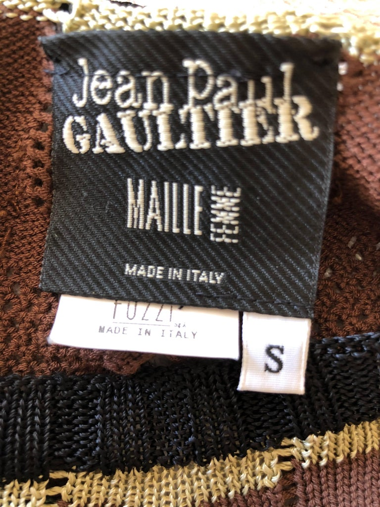 Jean Paul Gaultier Macrame Top with Tassels and JPG Dreamcatcher For Sale 5