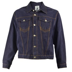 Jean Paul Gaultier Mens Vintage Indigo Denim Jean Jacket, 1990s