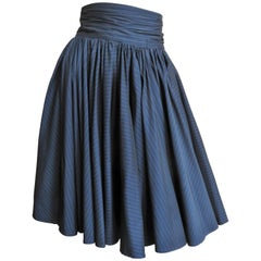 Jean Paul Gaultier Pinstripe Full Skirt