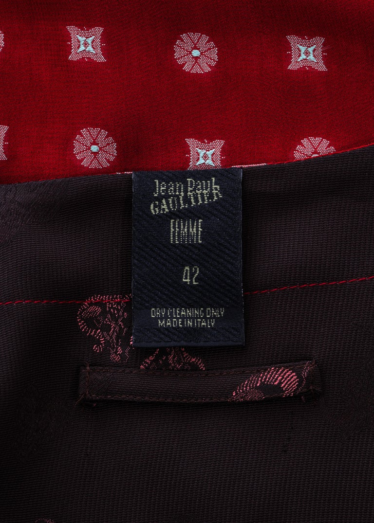 Jean Paul Gaultier reversible chiffon and jacquard evening robe, fw 1994 For Sale 6