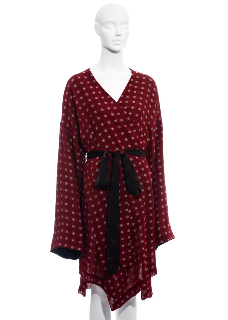 Women's Jean Paul Gaultier reversible chiffon and jacquard evening robe, fw 1994 For Sale