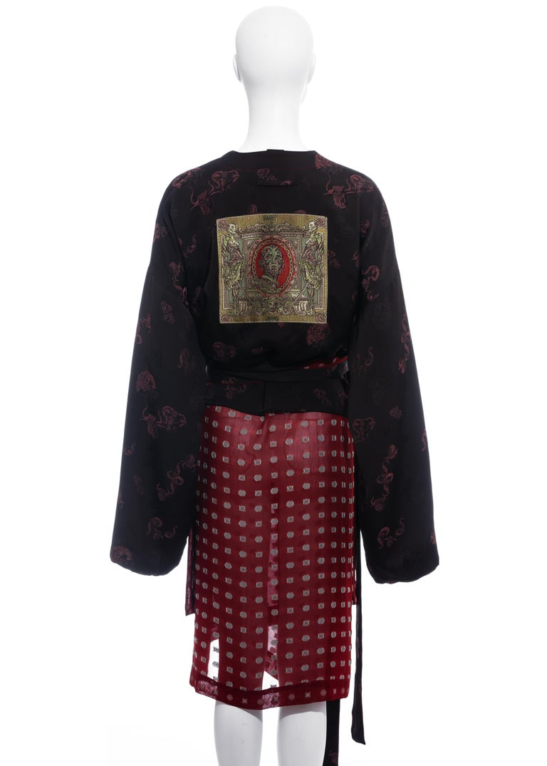 Jean Paul Gaultier reversible chiffon and jacquard evening robe, fw 1994 For Sale 3