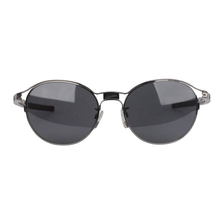 JEAN PAUL GAULTIER Round Gray Unisex Sunglasses SJP001 New Old Stock