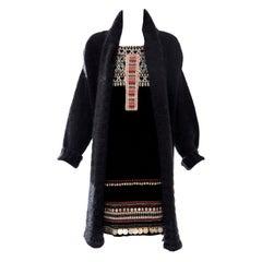 Jean Paul Gaultier Runway Mohair Knit Appliquéd Coins Sweater Dress , Fall 2010