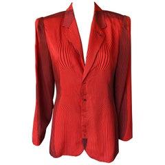 Jean Paul Gaultier S/S 1996 Vintage Cyberbaba Optical Illusion Jacket Blazer Top