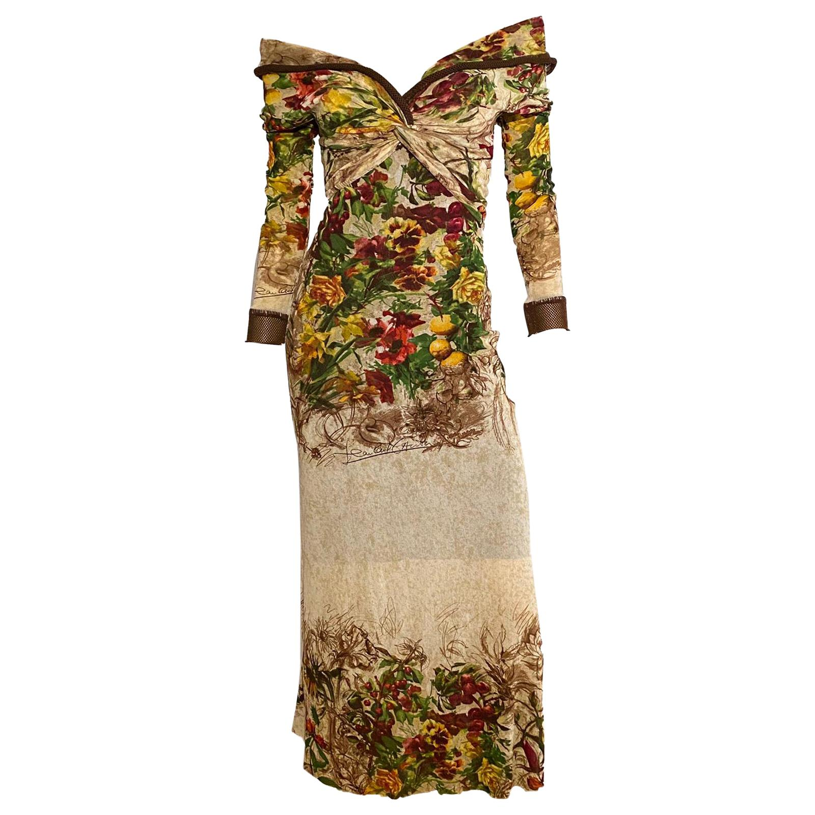 Jean Paul Gaultier S/S 1999 Runway Floral print dress