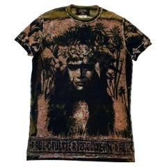 Jean Paul Gaultier S/S 2000 Polynesian print Mesh T-Shirt