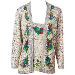Jean Paul Gaultier Sequined Cardigan Set