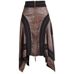 Jean Paul Gaultier Sheepskin Leather Vintage Skirt
