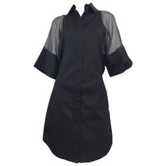 Jean Paul Gaultier Shirt Dress with Organza Sleeves