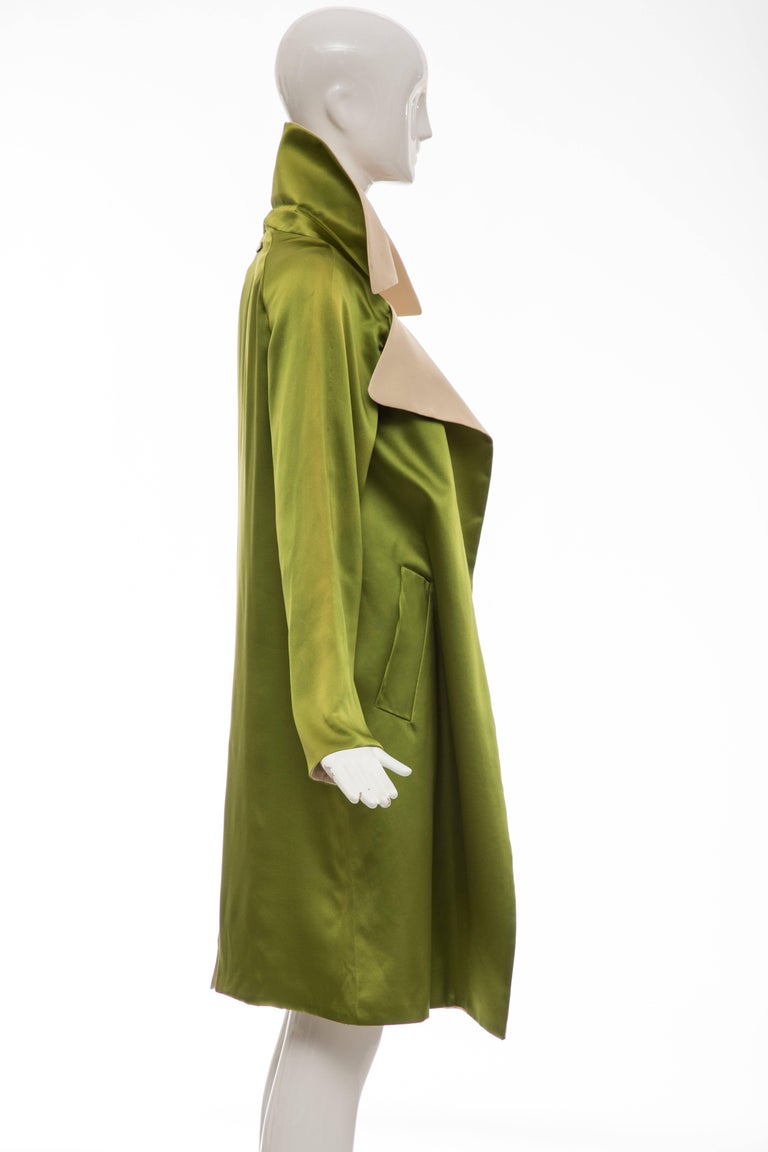 Jean Paul Gaultier Silk Charmeuse Dress Coat, Fall 2010 For Sale 1