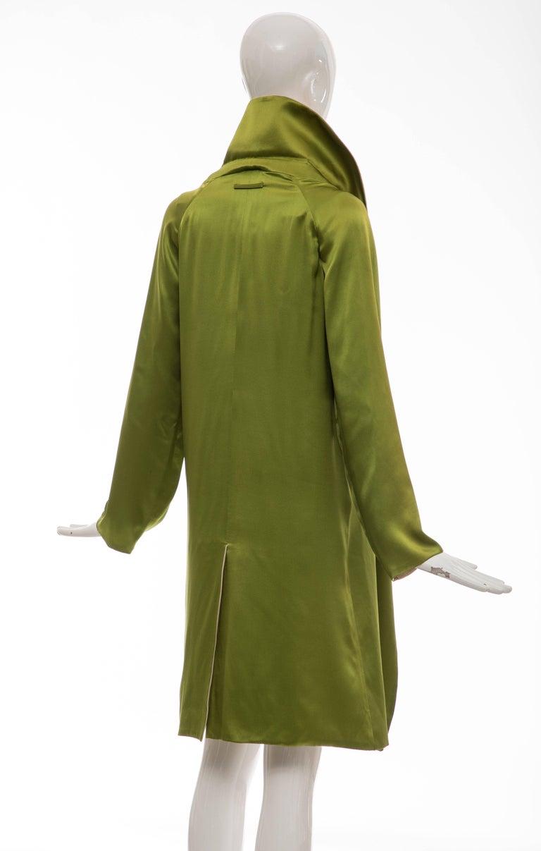Jean Paul Gaultier Silk Charmeuse Dress Coat, Fall 2010 For Sale 2