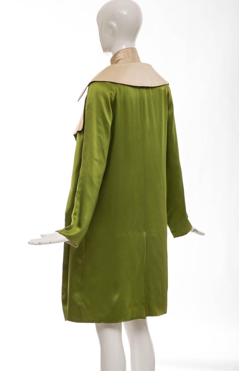 Jean Paul Gaultier Silk Charmeuse Dress Coat, Fall 2010 For Sale 3