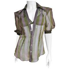 Jean Paul Gaultier Silk Shirt and Matching Bra