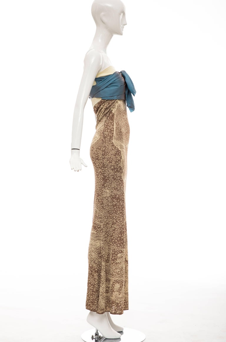 Jean Paul Gaultier Silk Strapless Constellation Evening Dress, Spring 2001 In Excellent Condition For Sale In Cincinnati, OH