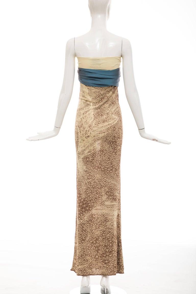 Women's Jean Paul Gaultier Silk Strapless Constellation Evening Dress, Spring 2001 For Sale