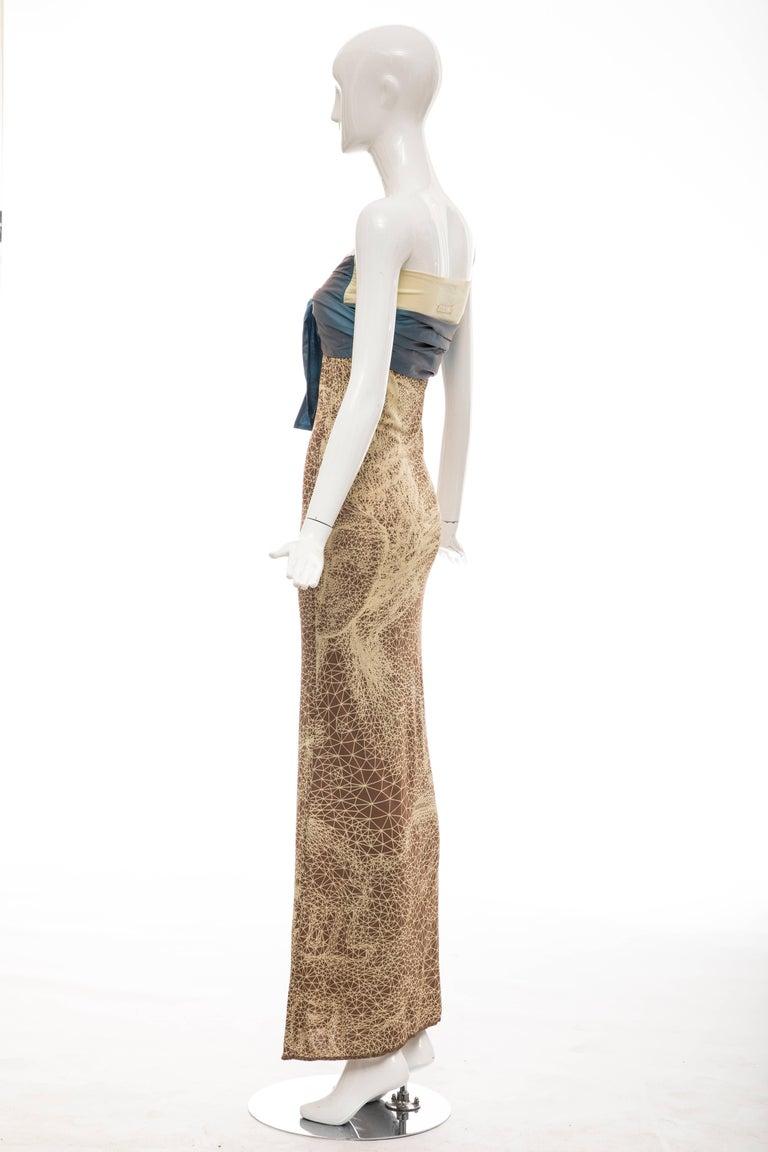 Jean Paul Gaultier Silk Strapless Constellation Evening Dress, Spring 2001 For Sale 1