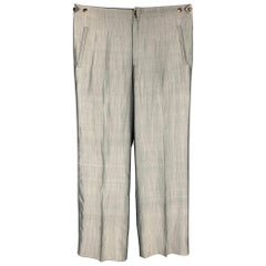 JEAN PAUL GAULTIER Size 32 Grey Silk Side Tabs Dress Pants