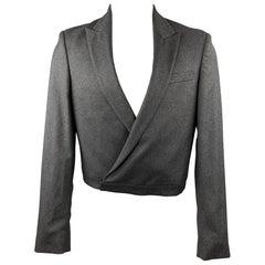 JEAN PAUL GAULTIER Size 40 Dark Gray Wool / Cashmere Cropped Jacket