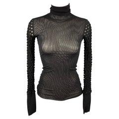 JEAN PAUL GAULTIER Size XS Black Mesh Polyamide Dress Top