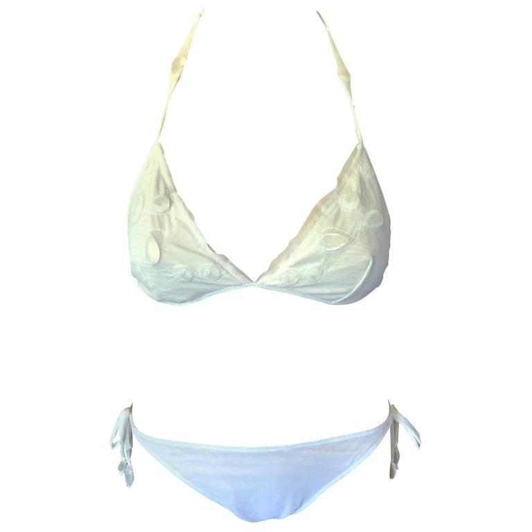 Jean Paul Gaultier Soleil Crystal Embellished Bikini Swimwear Swimsuit For Sale