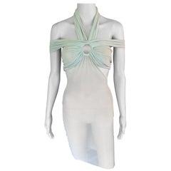 Jean Paul Gaultier Soliel Cutout Sheer Mesh Bodycon Dress