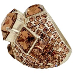 Jean-Paul GAULTIER Strass Amber Ring