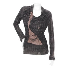 Jean Paul Gaultier Striped Print Blouse F/W 2004