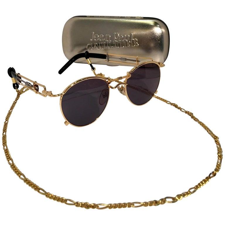 Jean Paul Gaultier Sunglasses Vintage 1990s 2-Tone Rare 56-0174 Original Case