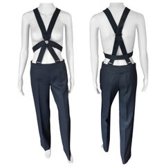 Jean Paul Gaultier Suspender Black Pants