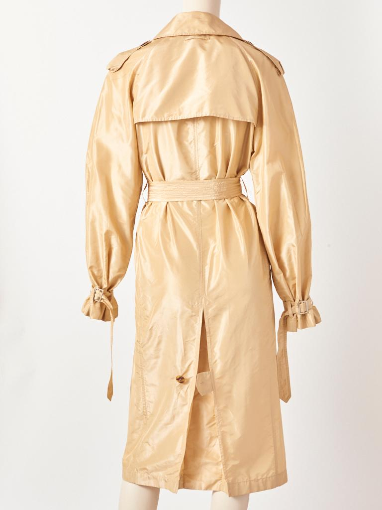 Jean Paul Gaultier Taffeta Trench In Good Condition For Sale In New York, NY