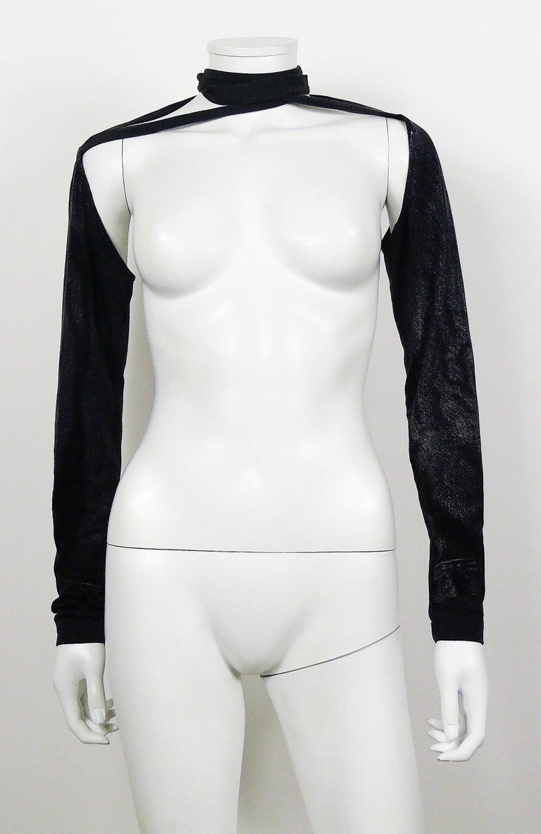 Jean Paul Gaultier Trompe L'oeil Maxi Dress with Detachable Sleeves For Sale 1