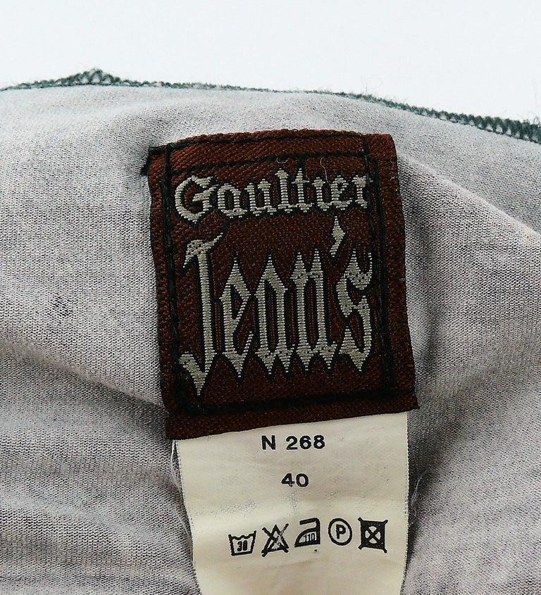 Jean Paul Gaultier Trompe L'oeil Maxi Dress with Detachable Sleeves For Sale 2