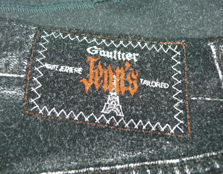 Jean Paul Gaultier Trompe L'oeil Maxi Dress with Detachable Sleeves For Sale 3