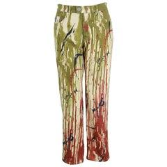 Jean Paul Gaultier Unisex Vintage Paint Splatter Jeans Pants, 1990s