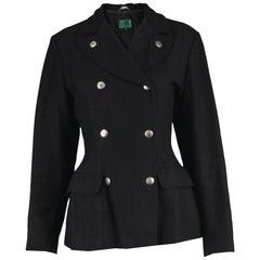 Jean Paul Gaultier Vintage 1980s Women's Black Double Breasted Blazer Jacket