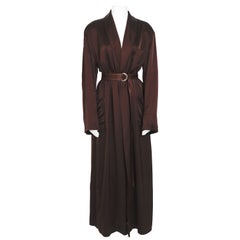 Jean Paul Gaultier vintage 90s signed Gaultier back chocolate brown robe coat