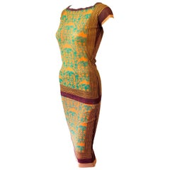 Jean Paul Gaultier Vintage Bodycon Mesh Top & Skirt Ensemble 2 Piece Set