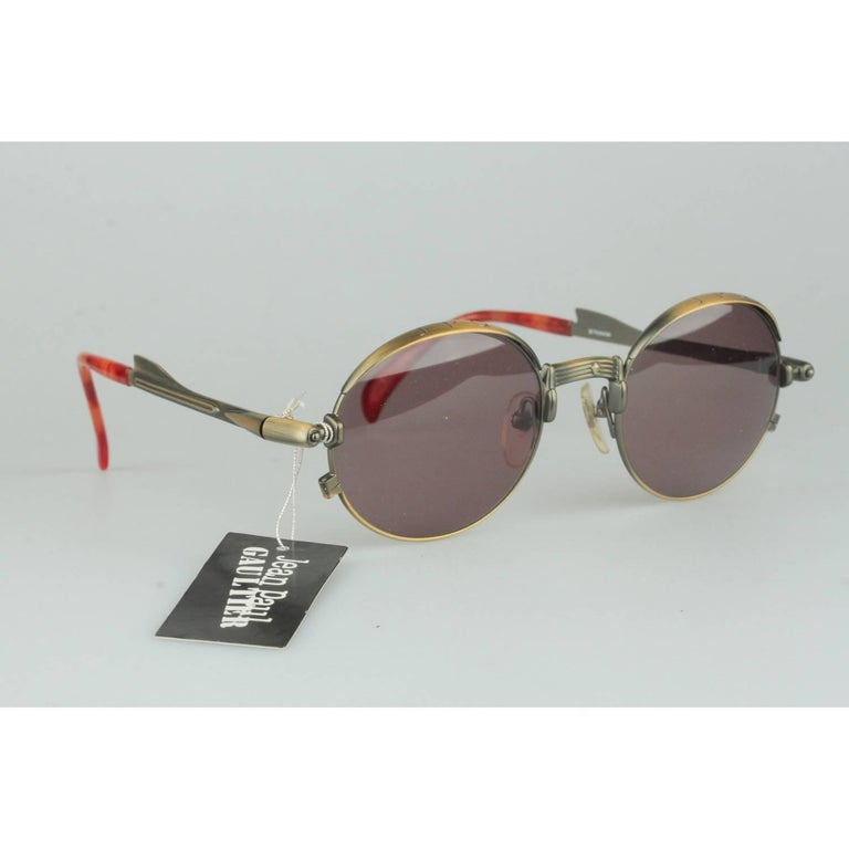 Jean Paul Gaultier Vintage Bronze Sunglasses JET 56-4175   In New Condition For Sale In Rome, Rome