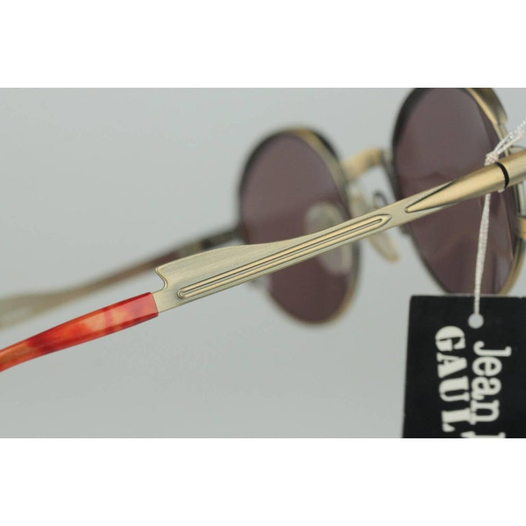 Jean Paul Gaultier Vintage Bronze Sunglasses JET 56-4175   For Sale 1
