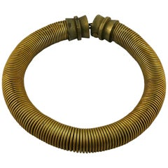 Jean Paul Gaultier Vintage Chunky Spring Collar Necklace