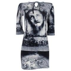 Jean Paul Gaultier Vintage Classique Label Religious Icon Dress 1990's