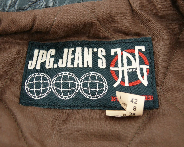 Jean Paul Gaultier Vintage Cropped Biker Jacket  For Sale 5