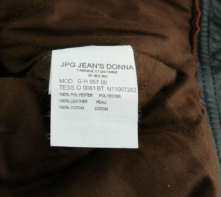 Jean Paul Gaultier Vintage Cropped Biker Jacket  For Sale 6