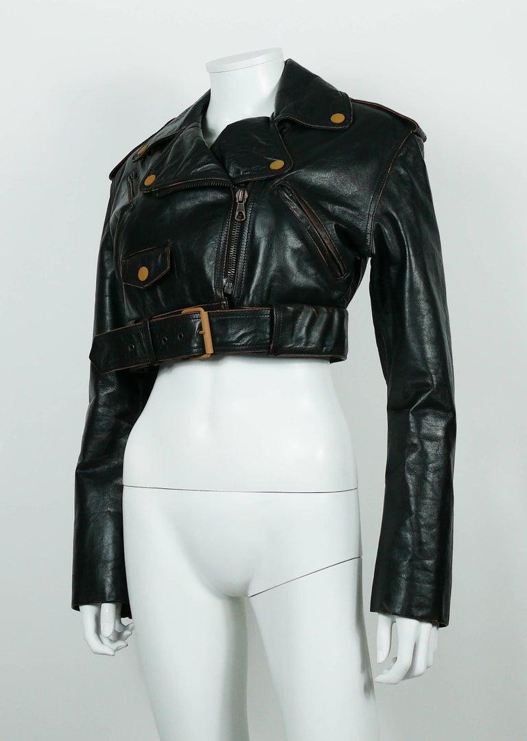 Women's Jean Paul Gaultier Vintage Cropped Biker Jacket  For Sale