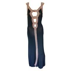 Jean Paul Gaultier Vintage Cutout Bodycon Maxi Dress