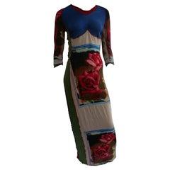 Jean Paul Gaultier Vintage Dress With Rose Print