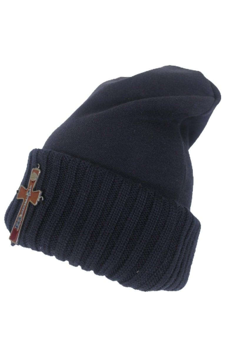 Vintage Jean Paul Gaultier Enamel Cross Hat Labelled size 48 Although hat  has size label 371650a7fb69