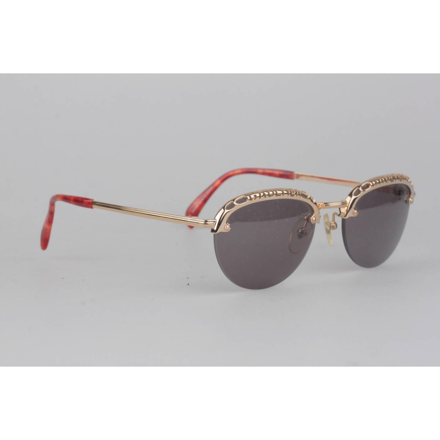 8cbc34a9109 Jean Paul Gaultier Vintage Gold Round Sunglasses For Sale at 1stdibs