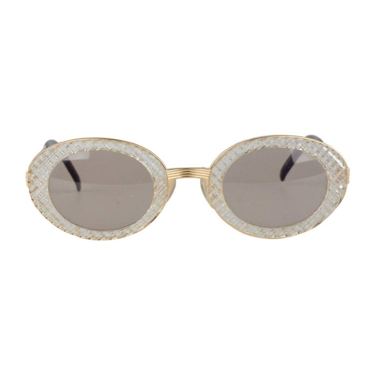JEAN PAUL GAULTIER Vintage Gold Sunglasses 56-5201 New Old Stock